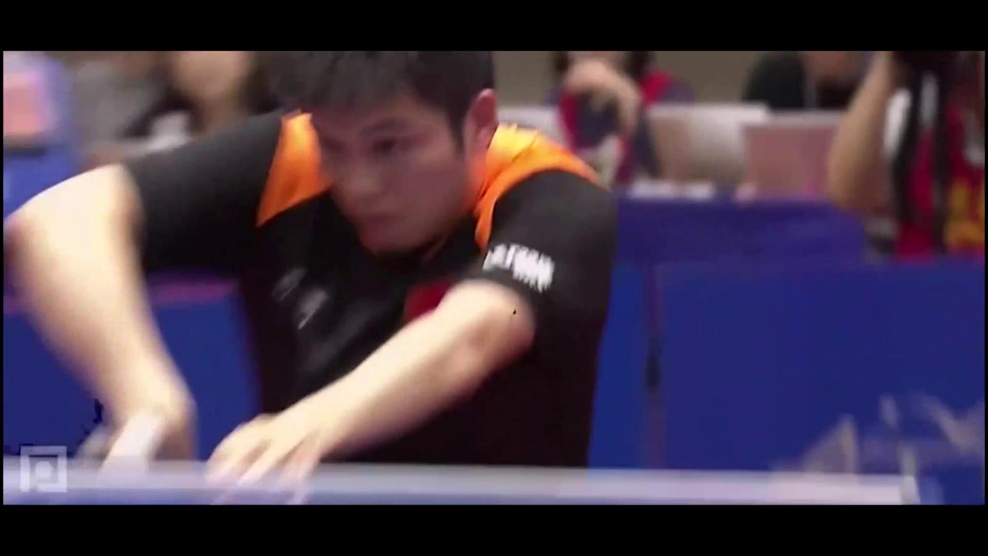 樊振东赢得了2局,挽回颜面,反手暴扣很有画面!厉害