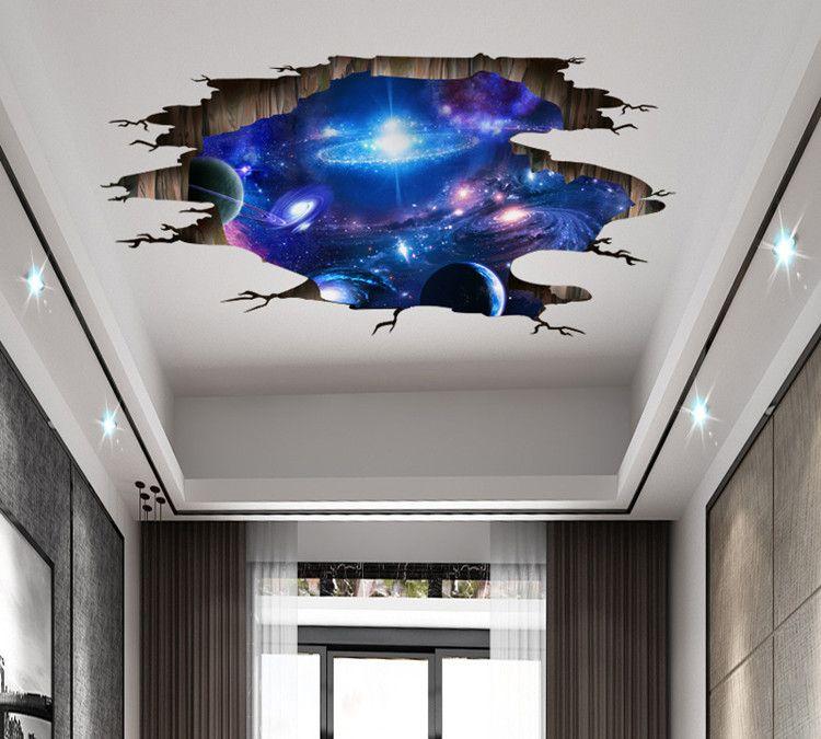 uv打印机软膜吊顶天花板彩印效果图