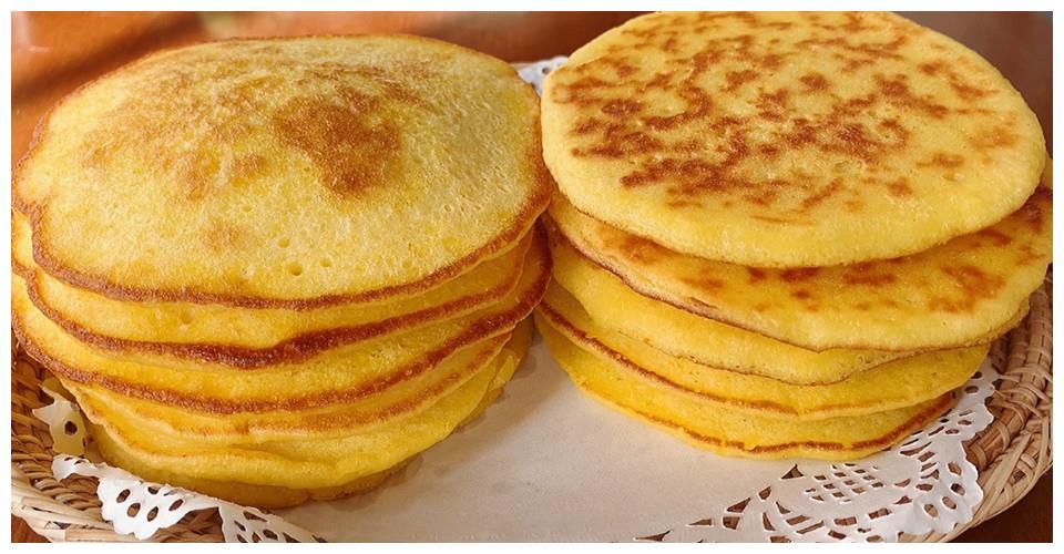 香甜软糯的玉米面饼,搅一搅就能做好,手不沾面,简单方便味道好