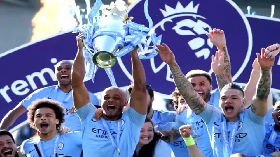 双冠王!曼城逆转布莱顿蝉联英超冠军 阿圭罗马赫雷斯建功
