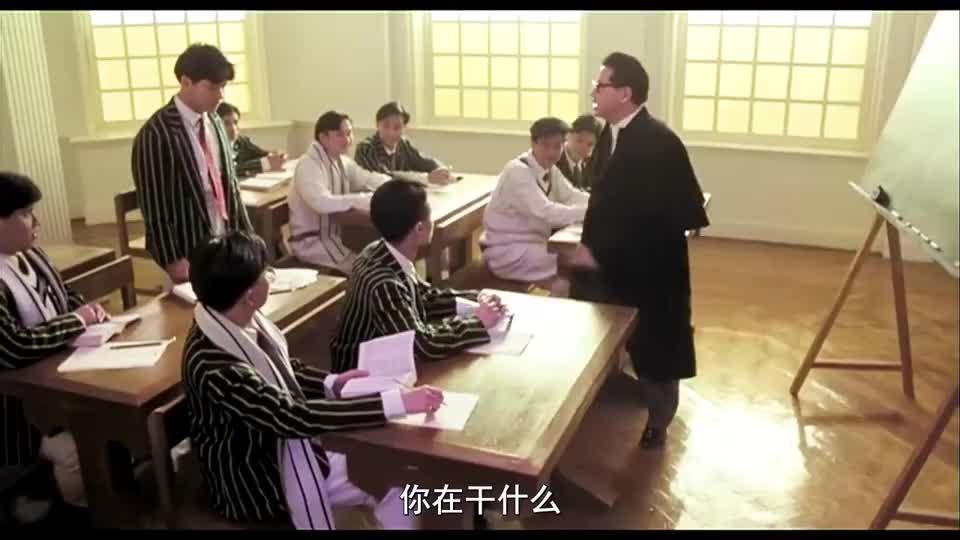 钱嘉乐不爱学习,上课喜欢画漫画,老师狠狠打击他