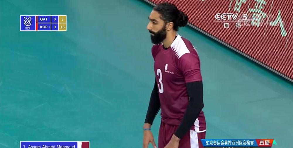 2020年东京奥运会亚洲男排资格赛,卡塔尔2-3韩国,连胜遭终结