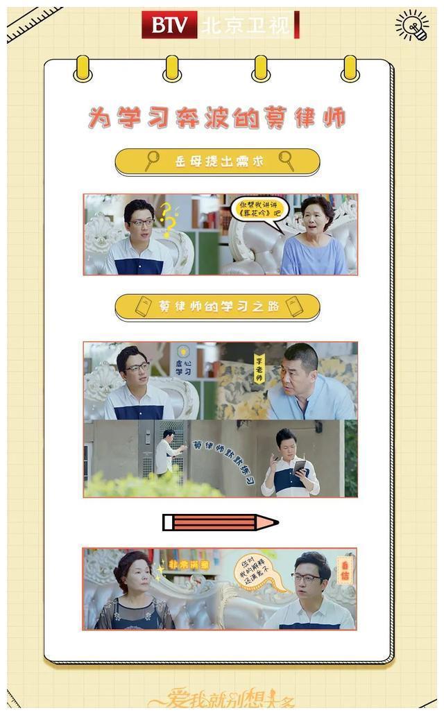 北京卫视《爱我就别想太多》莫律师改行了!做得还挺好!