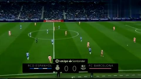 梅球王回来了!巴萨4-0横扫西班牙人梅西独造3球+任意球双响