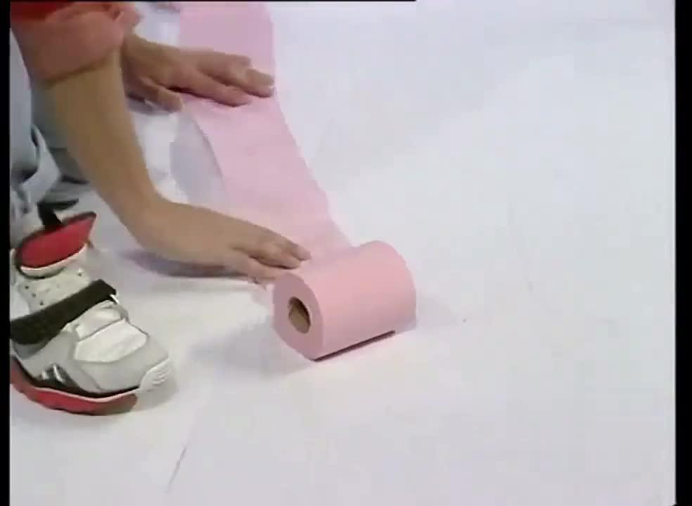 用卫生纸作画,不觉得浪费吗?
