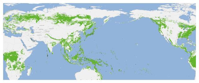 卫星看全球森林真相!中国沿海东北绿了,日本,菲律宾几乎全绿!