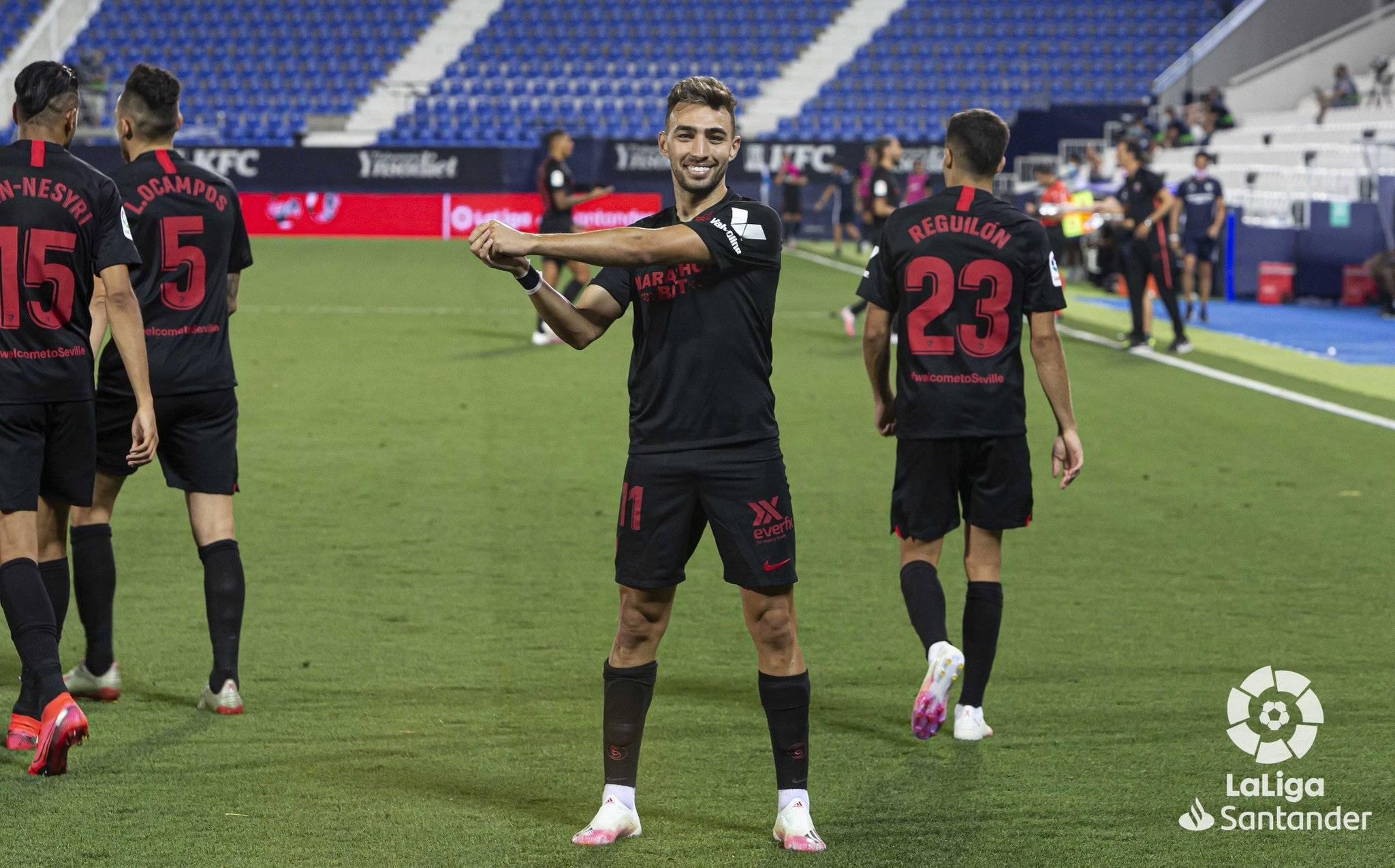 西甲第33轮塞维利亚客场3:0莱加内斯,奥利弗托雷斯攻入两球