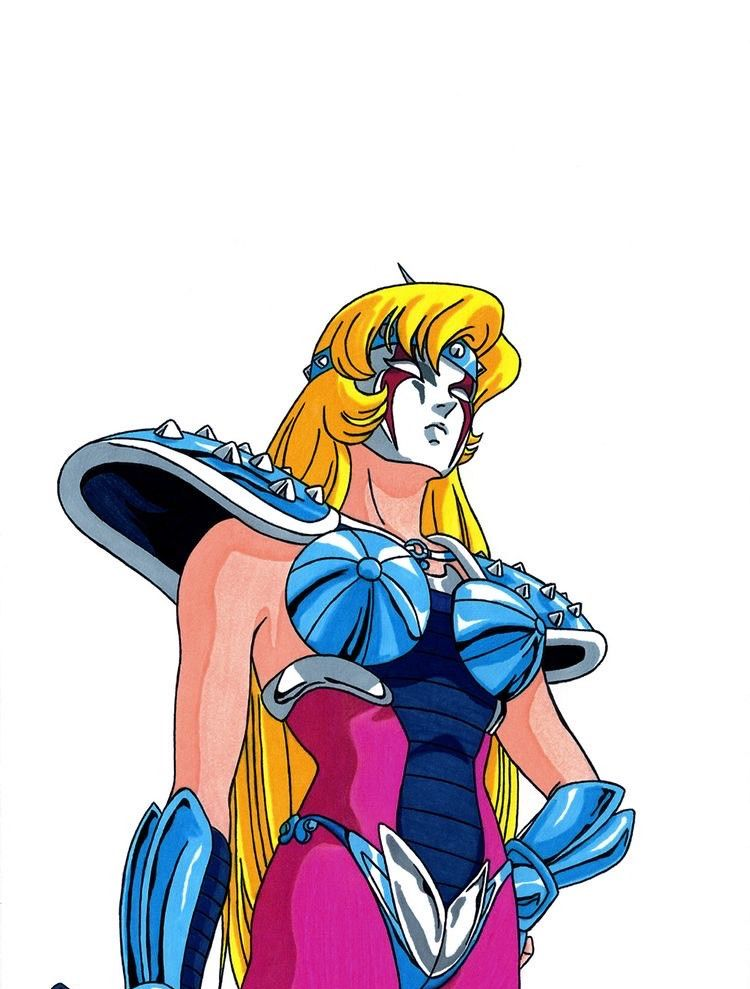 《圣斗士星矢》一个有争议性的角色,变色龙座珍妮,全身图绘制