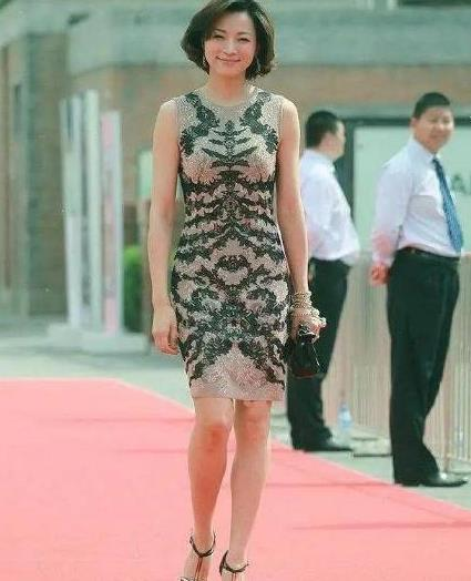 董卿气质、身材双绝佳!穿裸色绣花裙衬出凹凸感,45岁美得很高级