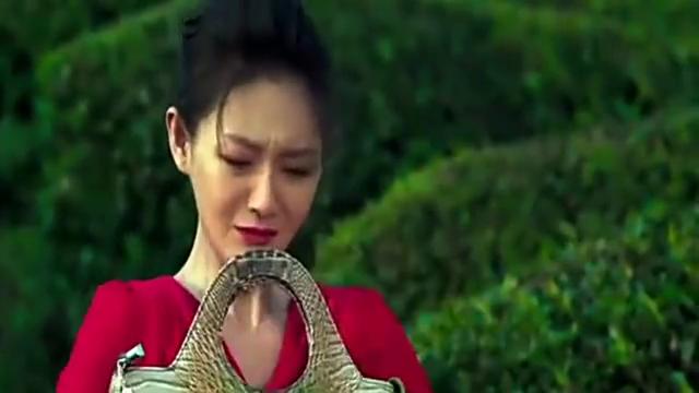 茶圆里突然出现巨鳄,一口吃掉女子的包,这梁子算是结下了