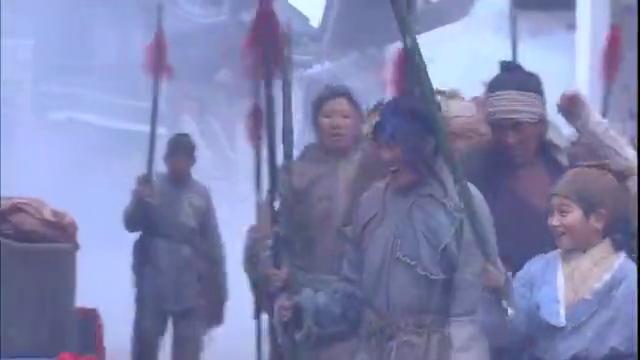 碧血剑:闯王攻进京城,百姓很开心,立马举旗呐喊欢迎闯王