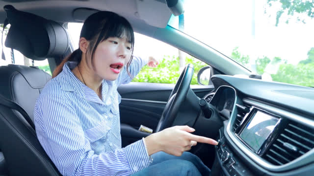 美女开车和智能导航吵架,抬起杠来一个比一个牛,这对话太逗了