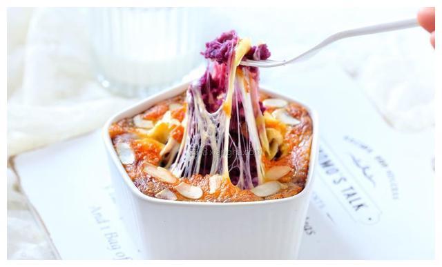 芝士焗紫薯,满满的膳食纤维,颜值高味道佳