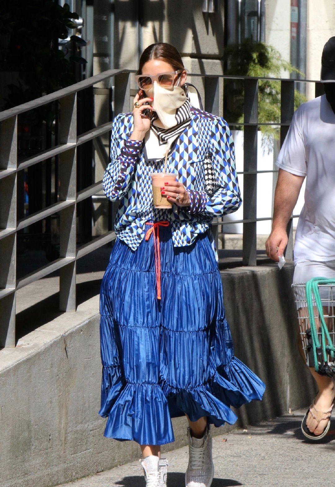 奥利维亚·巴勒莫(Olivia Palermo)纽约最新街拍照