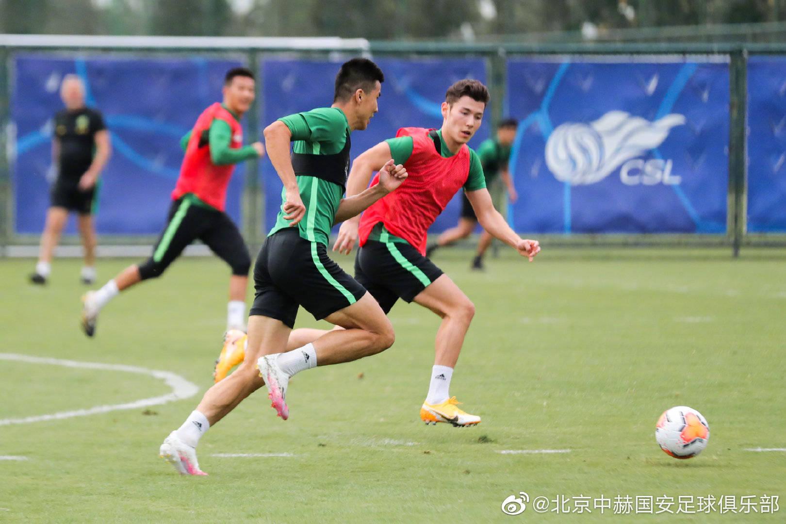 中超第二阶段比赛即将开始,北京中赫国安俱乐部进行最后的备战