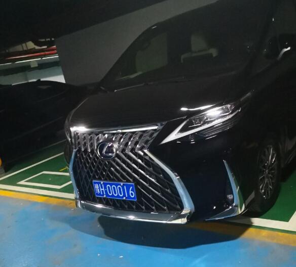 """南通通州区某地库偶遇雷克萨斯LM四座版,车牌""""00016""""不简单!"""