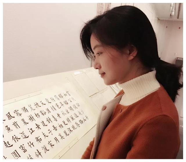 她是唯一一位凭楷书入12届国展的美女书家,楷书方刚,险绝灵动