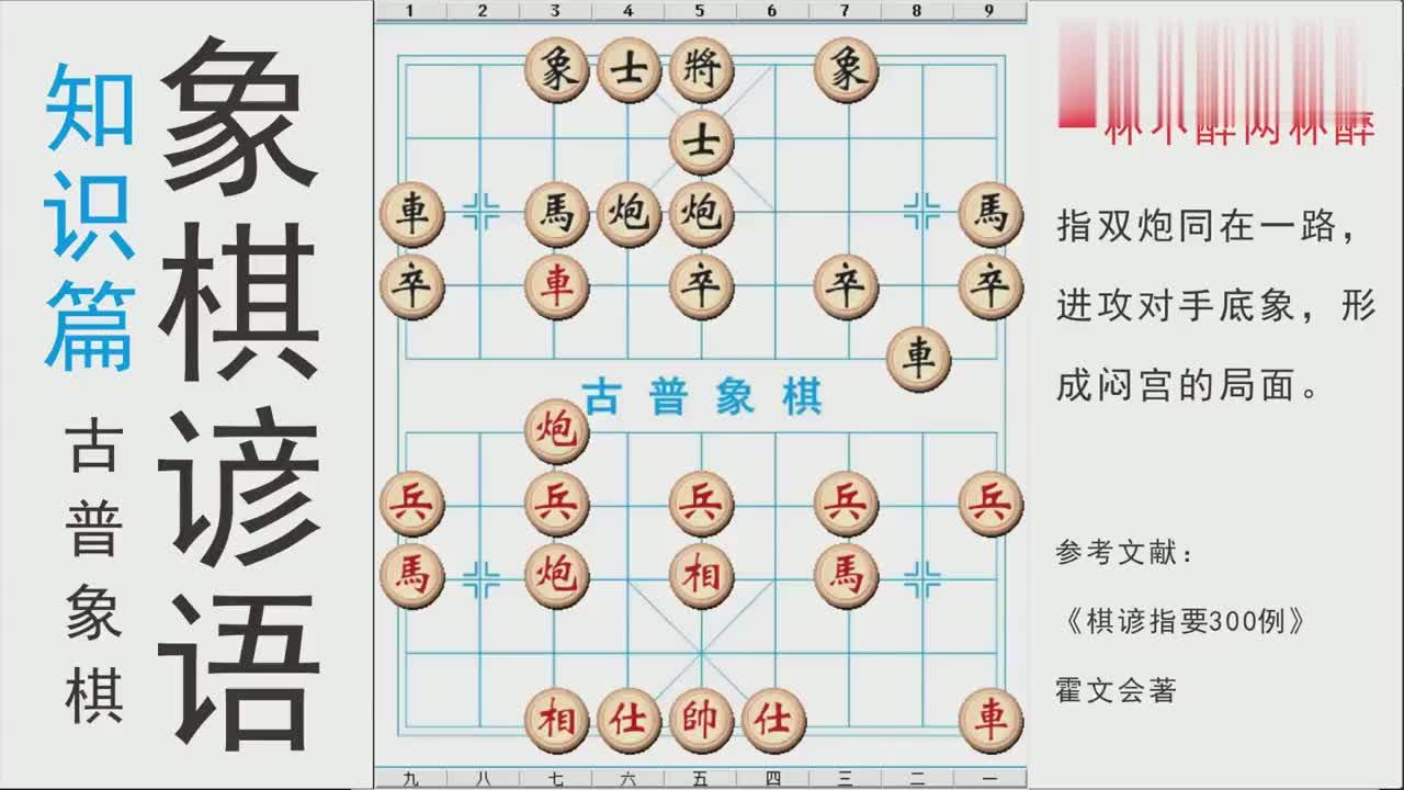 中国象棋谚语:一杯不醉两杯醉,中局战术要学