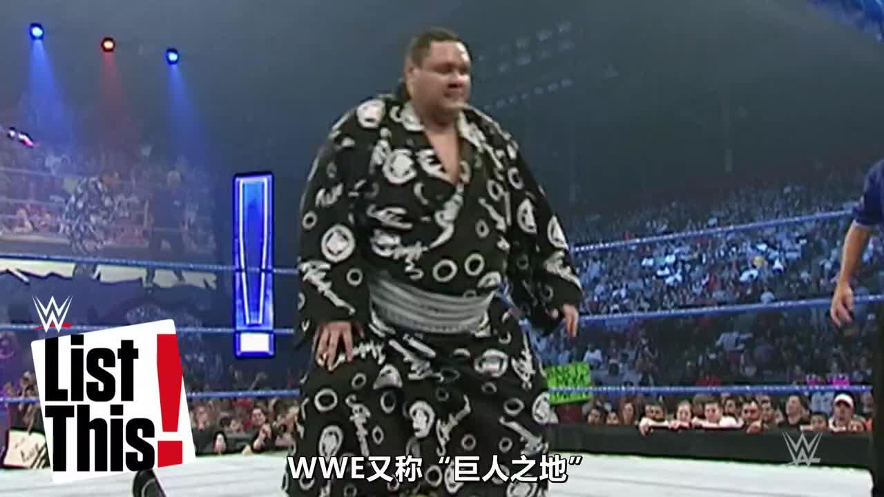 盘点五大巨人级选手 在横冈和巨人安德烈面前 连大秀都显娇小