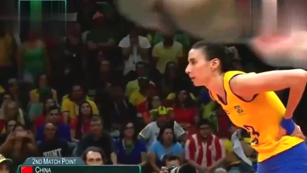 里约奥运朱婷载入史册的一扣!至今巴西女排畏惧