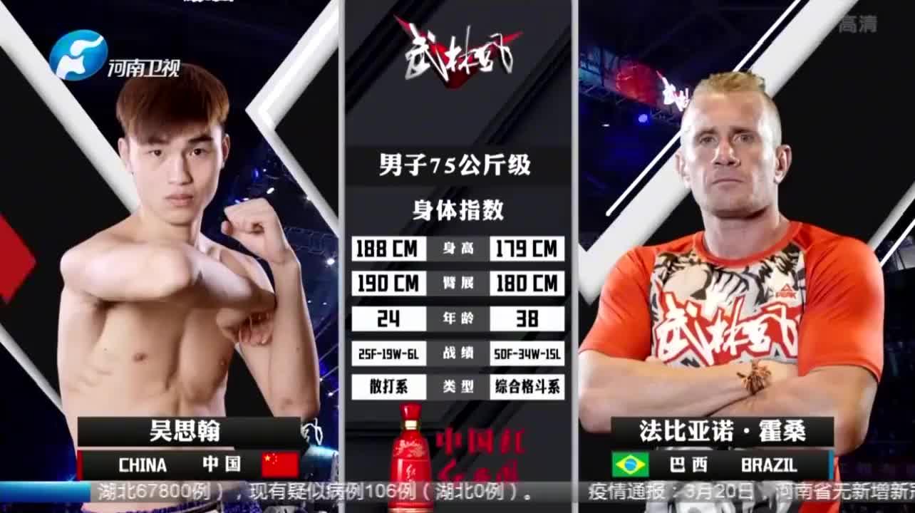 法比亚诺开场就发起凶猛的攻势,结果打完一套没招了,被对手KO