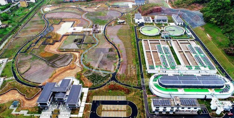 """浙江仙居:污水处理厂""""变身""""生态湿地公园"""