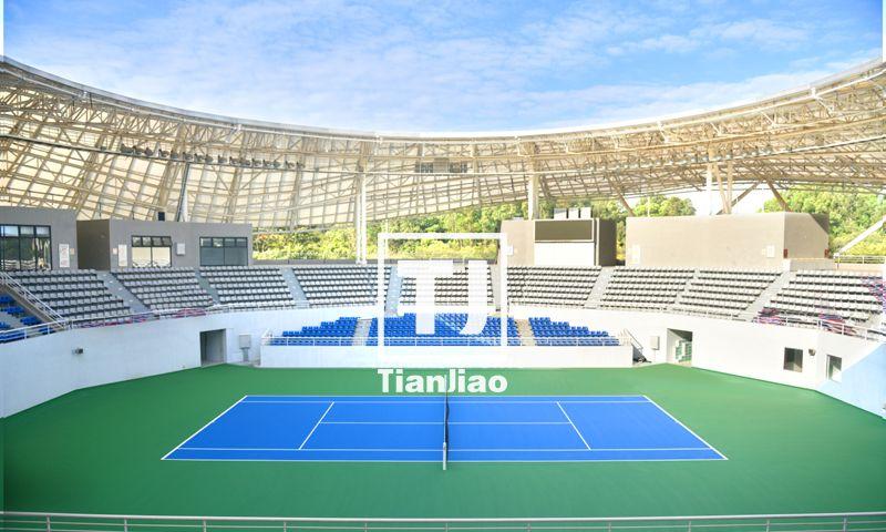 东莞市网球中心室外丙烯酸网球场(天骄体育案例)