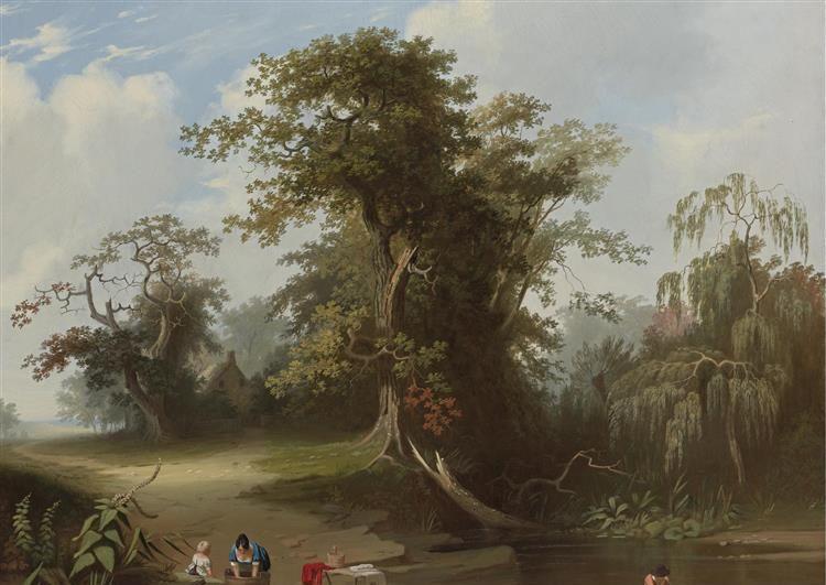 杜塞尔多夫画派画家乔治·迦勒宾·宾汉姆作品欣赏