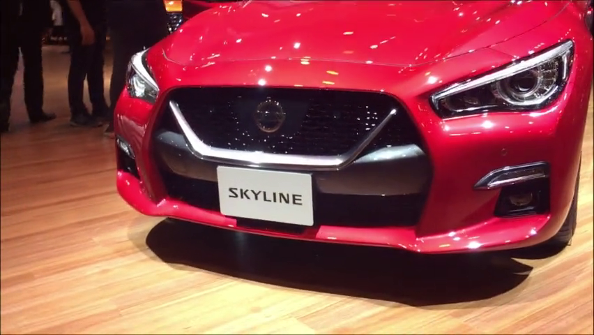 Q50配上GT-R中网,3.5升V6混动的日产Skyline是何方神圣