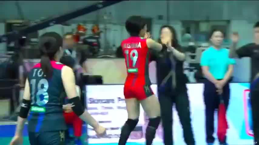 中国天津女排对阵日本久光制药女排集锦,2017年亚俱杯小组赛