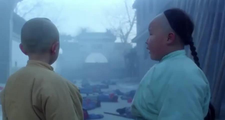 少林五祖激战花和尚,没想到最后小胖墩来了致命一击,帅