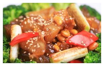 美食推荐:葱烧黄豆牛蹄筋、粤式柠檬鸡、香芹爆兔肚制作方法