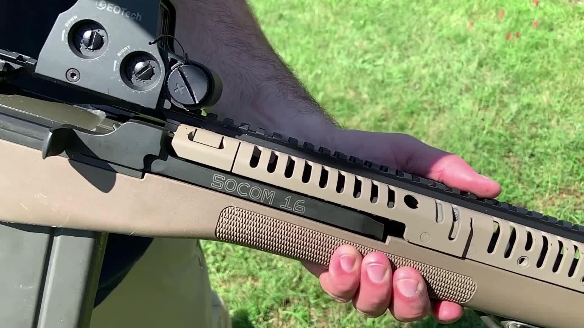 一款非常容易上手的半自动步枪:春田SOCOM16,靶场射击测试
