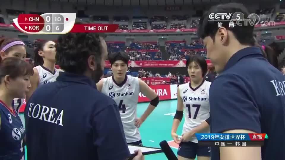 惠若琪小惠同学解说女排世界杯的同时,还负责监听韩国教练