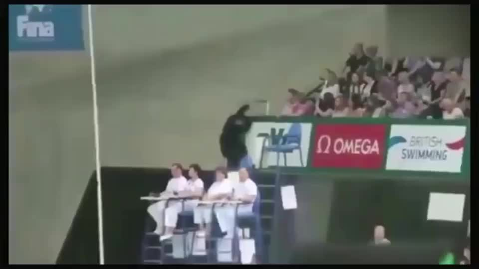 里约奥运一幕,观众怀揣跳水梦一路猛冲上跳台跳下
