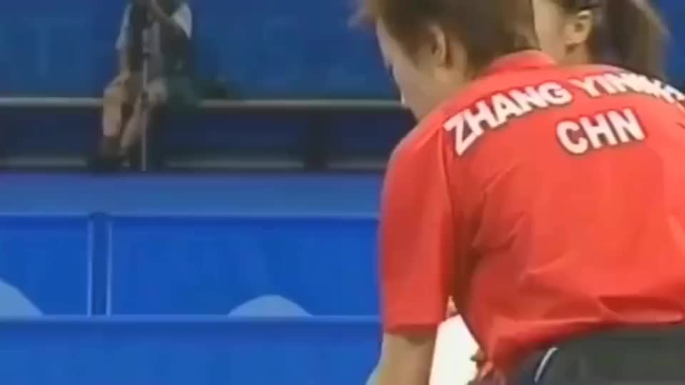 乒乓球历史最完美女双!王楠和张怡宁从没输过,虐惨韩国队