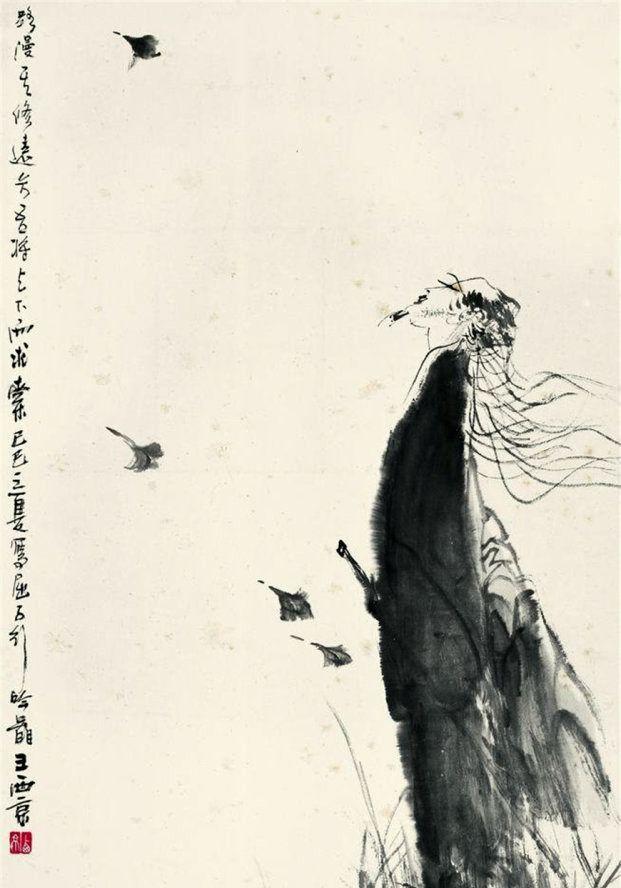 陕西美术家协会名誉主席王西京人物画作品欣赏