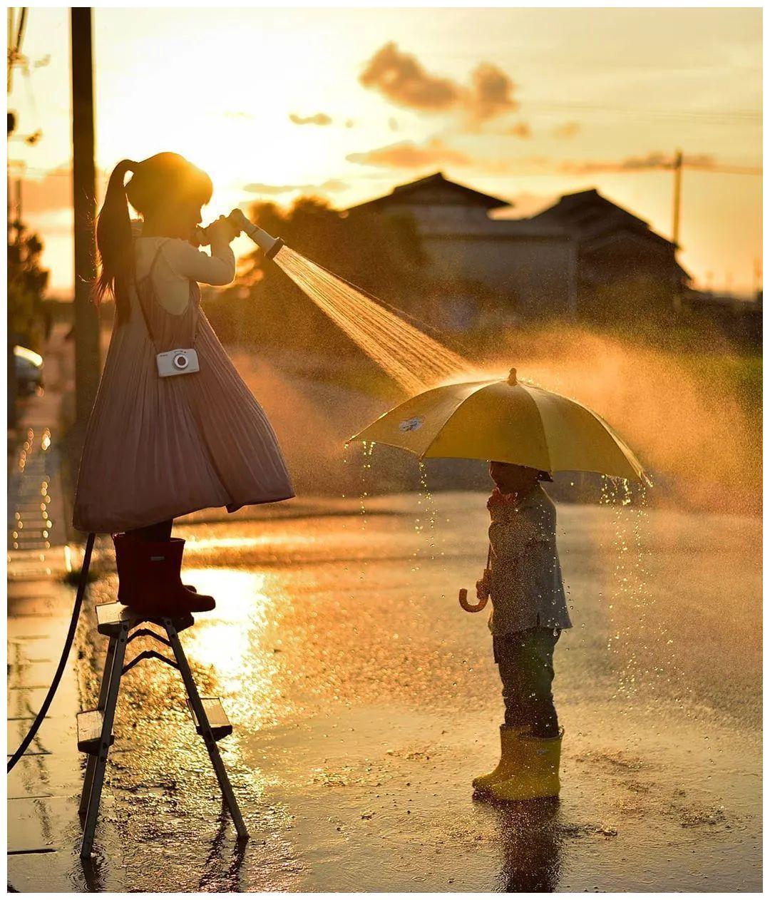 暖心爸爸晒娃,把孩子拍成宫崎骏动画,太治愈了