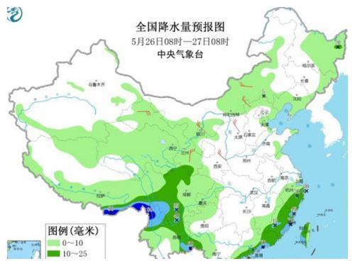 全国天气预报:南方今雨水短暂减弱 华北黄淮或再迎高温
