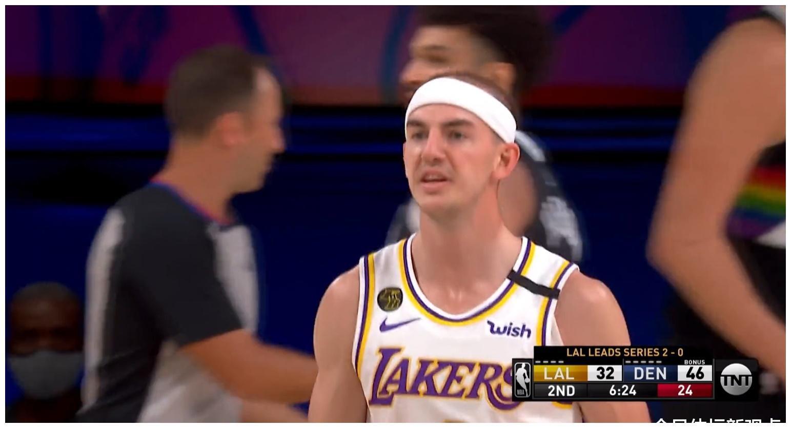 NBA西部决赛第三战激战正酣,掘金在上半场全面压制湖人