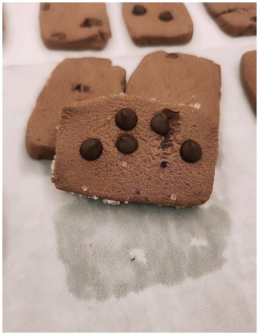 可可粒巧克力饼干