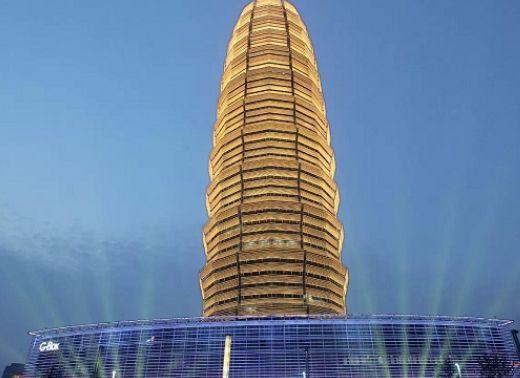 郑东新区CBD大玉米的设计原型、1500年前的砖塔——北魏嵩岳寺塔