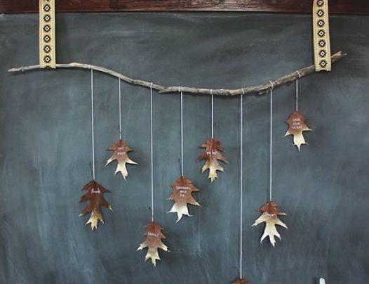 落叶挂饰怎么做图解手工制作树叶装饰的方法