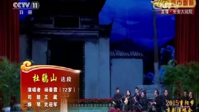杨春霞演唱京剧《杜鹃山》经典选段,唱腔婉转好听不容错过!