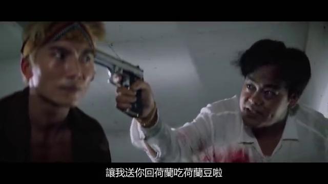 邹兆龙太嚣张带枪杀人,刘青云为了干掉他,让子弹穿过自己射中他