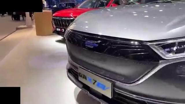 视频:2020款长安欧尚X7EV抢先实拍,近距离了解后,买不买做个参考