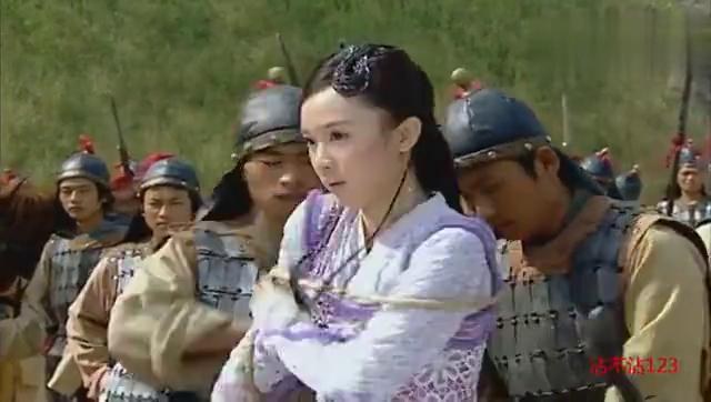 道士用法术想害七仙女跟董永,四公主用法力把道士扔进了河里