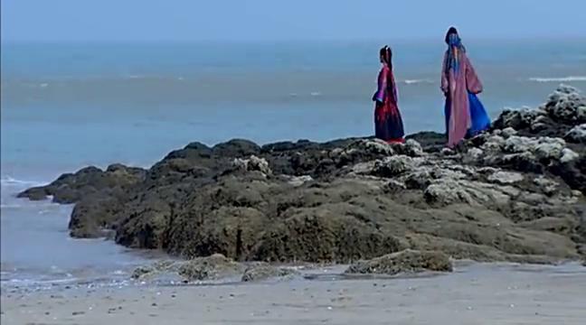 莺歌跟叶蓁讲述自己的往事,竟看到夫君从海面而来,莺歌笑了