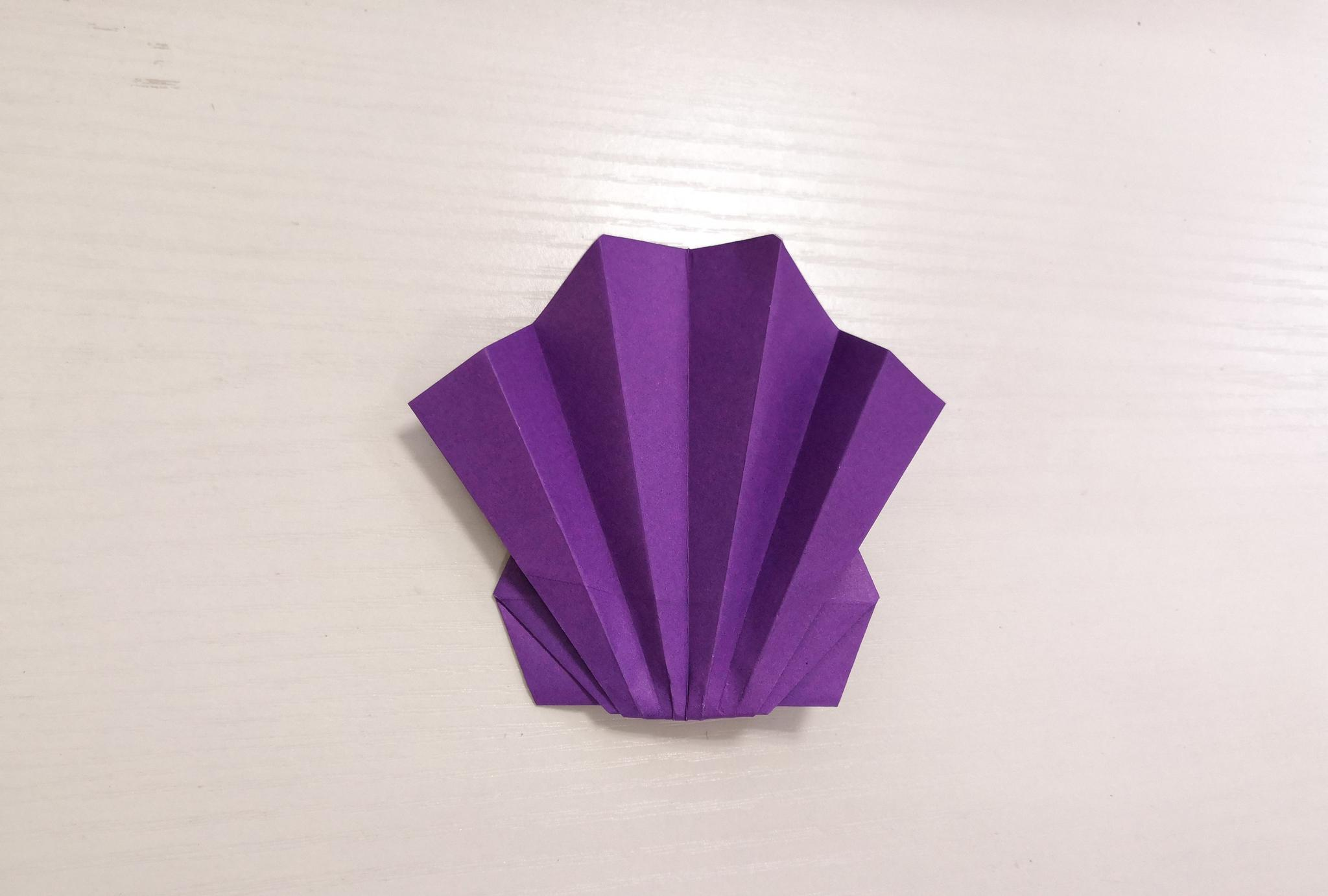 育儿:双贝壳折纸教程,非常适合家庭亲子活动哦