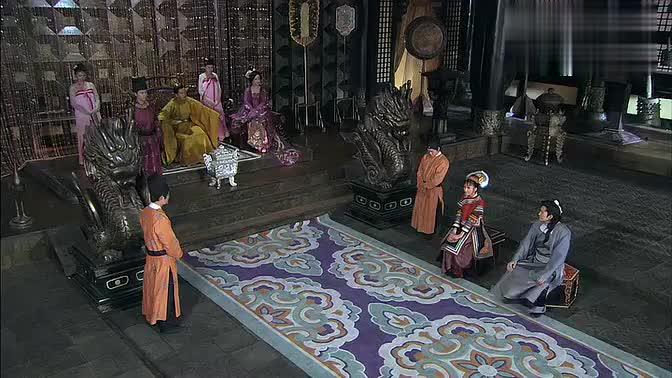 张翰受命和宁美人一起带南诏公主游园,途中谈话也太伤感了